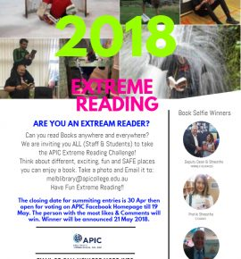 Extream Reader - Closing date - 30th April