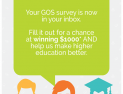 Graduate Outcomes Survey (GOS)  29th Jan - 25th Feb