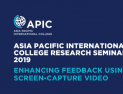 Enhancing Feedback Using Screen-Capture Video-22Oct