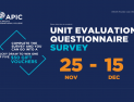 Unit Evaluation Questionnaire Survey - 25 Nov - 15 Dec