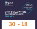 Unit Evaluation Questionnaire Survey - 30 Nov - 18 Dec