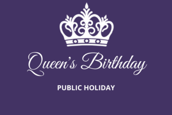 Queen's Birthday Public Holiday - Monday 14 June 2021