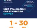 Unit Evaluation Questionnaire Survey - 1 Apr - 30 Apr