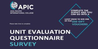 Unit Evaluation Questionnaire Survey - 9th August to 31st August